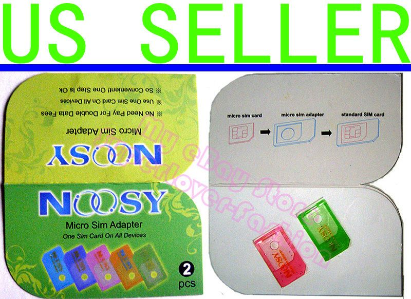 2pcs x Noosy Micro Sim Card Adapter USA US Seller ★★
